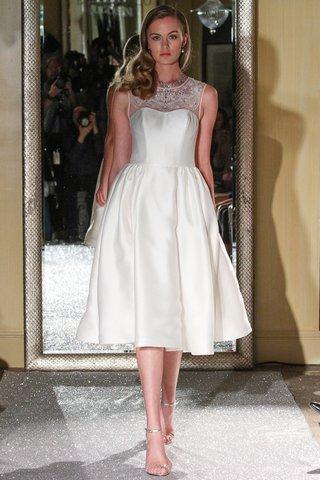 short-wedding-dress-by-oleg-cassini-fall-2015