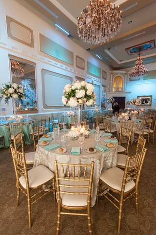 gilt-chairs-around-guest-tables-at-wedding-reception