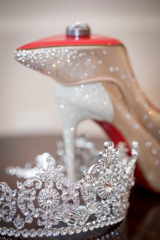 ashley-alexiss-wedding-accessories-crystal-tiara-and-sparkle-christian-louboutin-heels-wedding-rings
