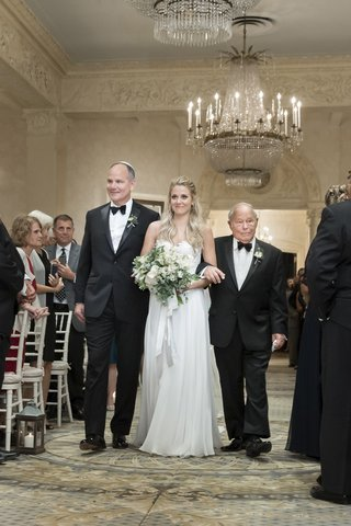 bride-in-flowing-wedding-dress-and-sweetheart-neckline-walked-down-the-aisle-by-dad-and-grandpa