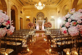 biltmore-ballrooms-wedding-ceremony-with-pink-flowers