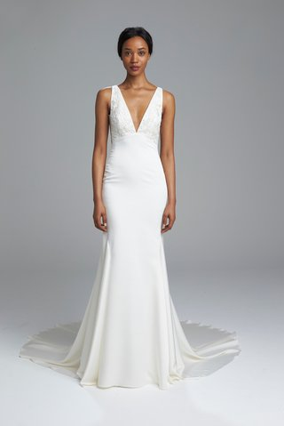 kenneth-pool-spring-2017-bridal-collection-asia-wedding-dress-silk-charmeuse-fit-and-flare-v-neck