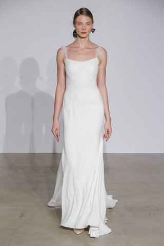 justin-alexander-fall-2018-fit-and-flare-crepe-gown-with-beaded-sheer-detail