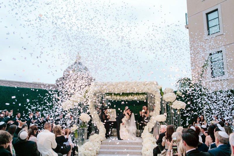 Confetti Canon at Outdoor Wedding