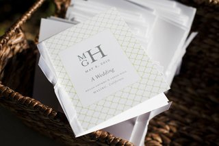 white-and-green-wedding-ceremony-booklets