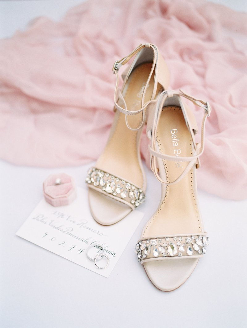 Crystal Heels with Ankle Straps