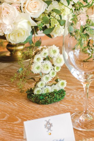 wedding-reception-table-number-formed-with-small-flowers-table-number-made-from-mums-on-moss-bed