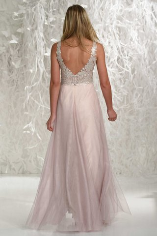 wtoo-bridesmaids-2016-v-back-bridesmaid-dress-with-pink-skirt-and-silver-embroidery-on-bodice