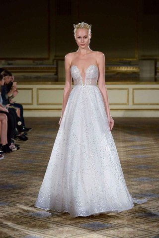 berta-fall-winter-2016-silver-beaded-a-line-gown-with-illusion-neckline