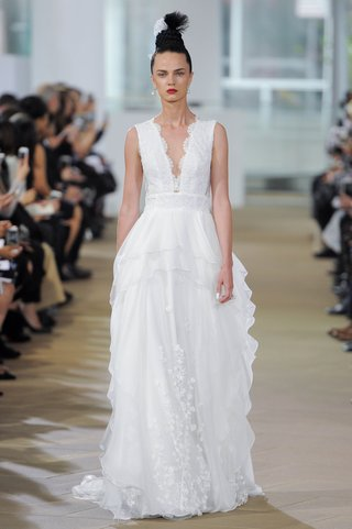 ines-di-santo-spring-2018-sleeveless-v-neck-natural-waist-embroidered-sheath-chiffon-overlay