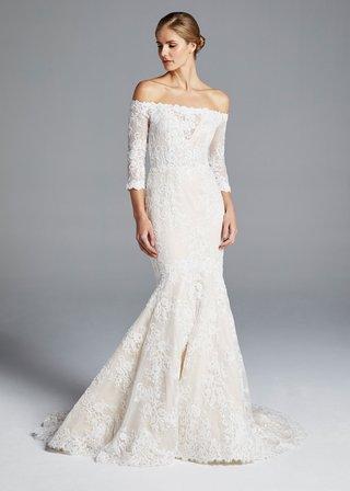 anne-barge-spring-2019-bridal-collection-wedding-dress-loren-off-the-shoulder-three-quarter-sleeve