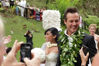 angus-mitchell-co-owner-of-john-mitchell-systems-and-his-bride-after-hawaiian-wedding-ceremony