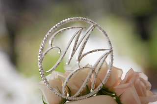 sparkling-wedding-cake-topper-of-bride-and-grooms-monogram