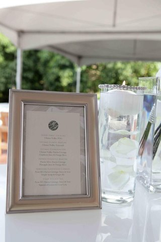 wedding-cocktail-menu-in-a-metallic-frame