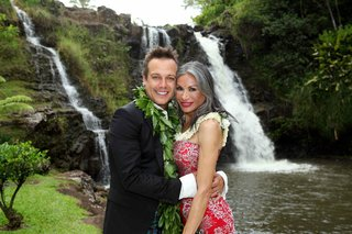 angus-mitchell-co-owner-of-john-mitchell-systems-and-his-mother-at-his-hawaiian-wedding