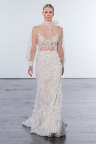 dennis-basso-for-kleinfeld-2018-collection-wedding-dress-high-neck-long-sleeve-gown-applique