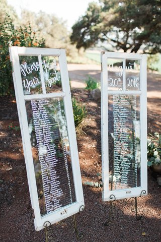 framed-windows-seating-charts-custom-rustic-northern-california-winery-wedding-reception-names