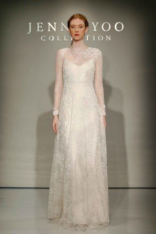 jenny-yoo-bridal-2016-long-sleeve-chantilly-lace-high-neck-gown