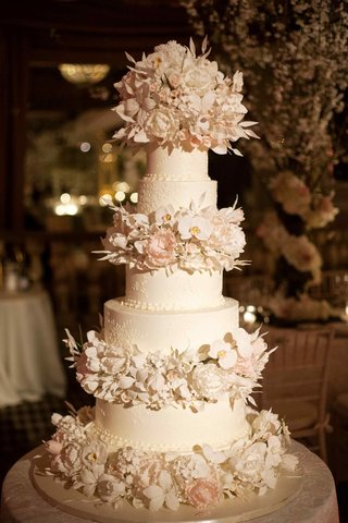elegant-wedding-cake-with-sugar-orchids-and-peonies