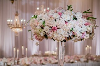 tall-wedding-reception-arrangement-of-blush-white-hydrangeas-roses
