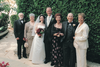 bride-and-groom-in-beverly-hills-with-parents-in-formal-attire