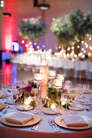 wedding-reception-centerpiece-birch-branch-candles-moss