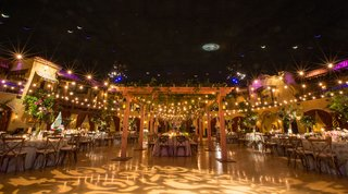 indoor-ballroom-wedding-reception-at-unique-venue-in-indiana-light-patio-lights-gobo-projection