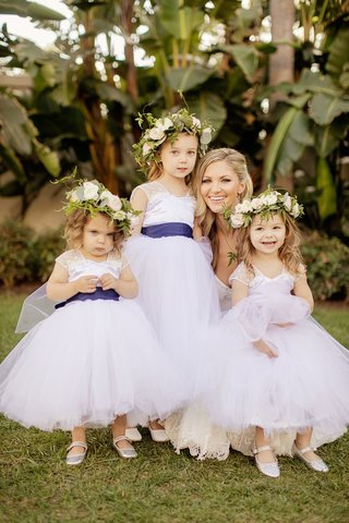 cute-flower-girls-white-flower-girl-dress-blue-sash-flower-crown-houston-astros-gerrit-cole