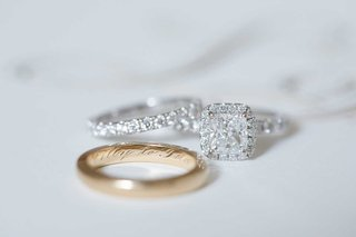 wedding-rings-yellow-gold-mens-wedding-ring-with-engraving-on-inside-and-halo-engagement-ring