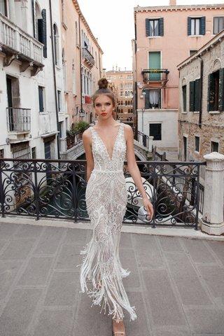 nicoletta-by-julie-vino-2018-deep-v-neck-dress-open-back-embroidered-lace-beaded-fringes
