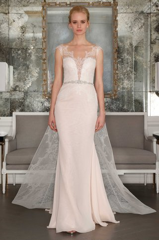romona-keveza-collection-bridal-spring-2017-sheath-wedding-dress-plunging-v-neck-detachable-train