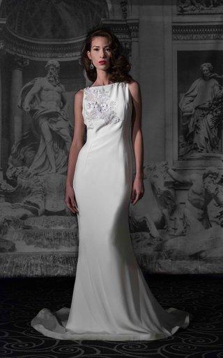 sarah-jassir-la-dolce-vita-2016-high-boat-neck-silk-crepe-wedding-dress-with-sheer-beaded-back