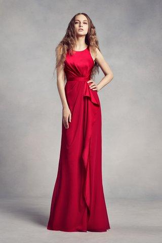 white-by-vera-wang-fall-2017-sleek-bridesmaid-dress-scoop-neckline-gathered-fabric-details-valentina