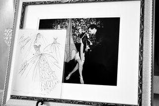 black-and-white-photo-of-wedding-dress-sketch
