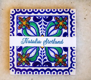 painted-tile-name-plates-escort-cards-spanish-mexican-wedding-floral
