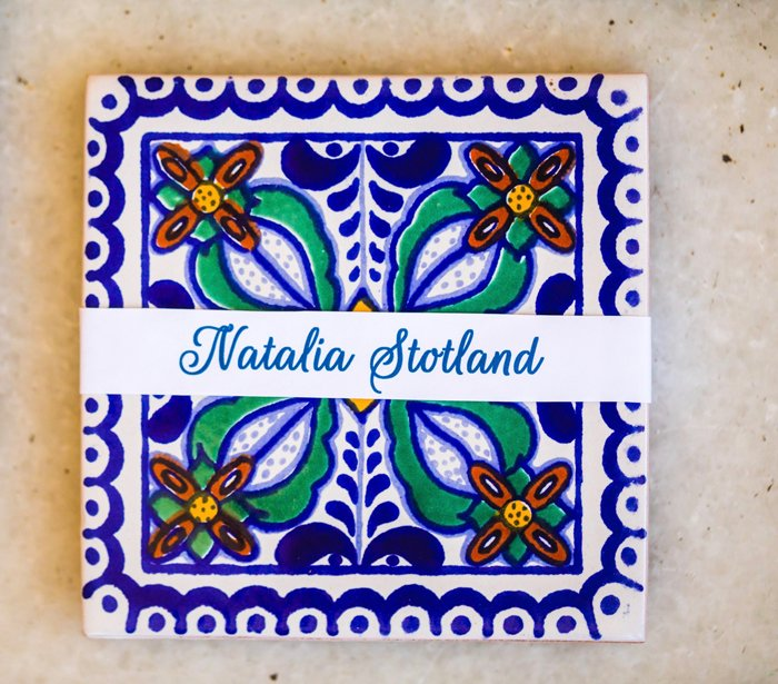 Painted Tile Name Plates