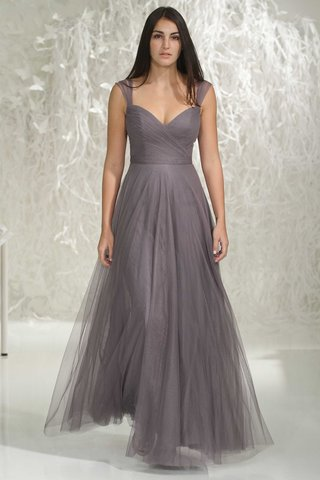 watters-bridesmaids-2016-grey-long-bridesmaid-dress-with-straps-and-v-neck-draped-bodice