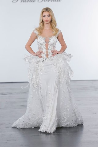 pnina-tornai-for-kleinfeld-2018-wedding-dress-plunging-neckline-crystals-flowers