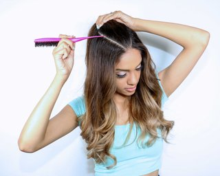 ariana-grande-inspired-wedding-event-bachelorette-party-half-up-half-down-hair-tutorial-step-1