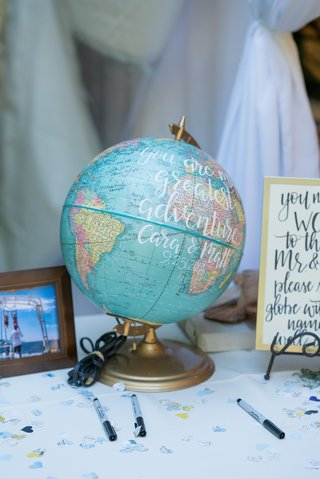 globe-as-guest-book-for-couple-that-loves-to-travel