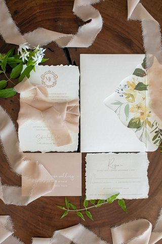 torn-edge-stationery-flower-print-envelope-liner-ribbon-blush-monogram-frayed-edge