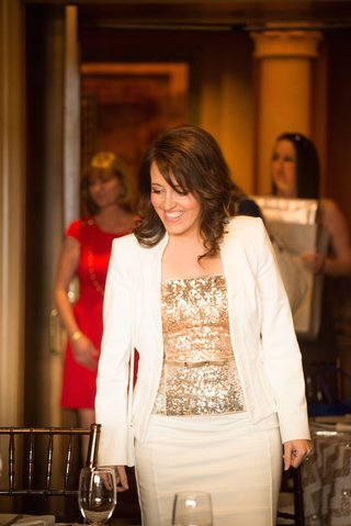 bride-to-be-wears-white-suit-golden-sequined-blouse-to-bridal-shower-at-the-grand-del-mar-resort