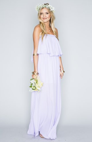 strapless-lavender-bridesmaid-dress-with-flounce-bodice