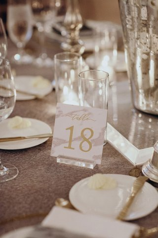 suzanna-villarreal-and-alex-wood-la-dodgers-wedding-table-number-marble-design-on-lucite-acrylic