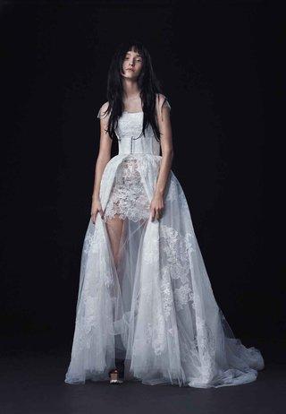 vera-wang-bride-fall-2016-minidress-with-a-line-open-front-skirt-wedding-dress