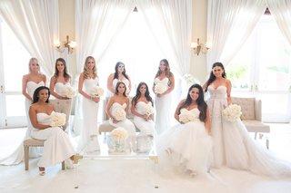bride-in-inbal-dror-wedding-dress-with-zuhair-murad-overskirt-bridesmaids-in-white-runway-dresses