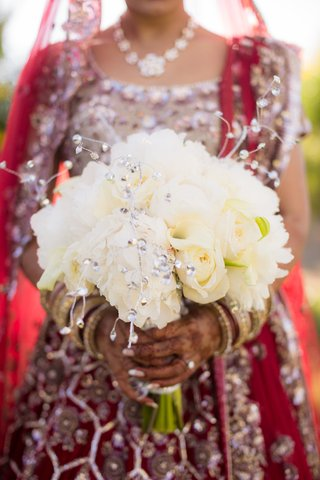 all-white-bouquet-floral-crystals-roses-indian-hindu-weddingbangles-details