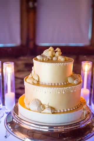 three-3-tier-cold-cake-sea-concept-shells-seahorses