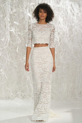 willowby-by-watters-2016-lace-two-piece-wedding-dress-with-3-4-sleeve-crop-top-and-skirt