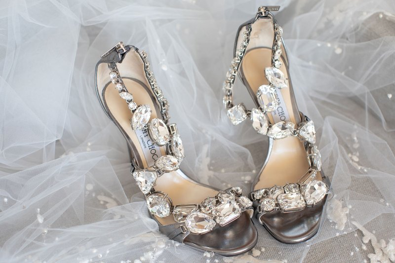 Large Crystal Designer Sandals
